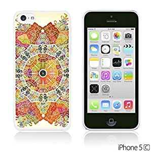 OnlineBestDigital - National Pattern Hardback Case for Apple iPhone 5C - Mandala Motif Round Lase Pattern