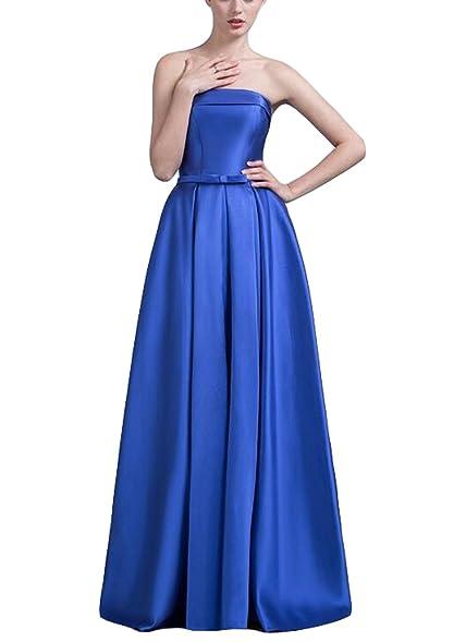Amazon Tf Dress Womens Strapless Long Prom Dress Lace Up Back