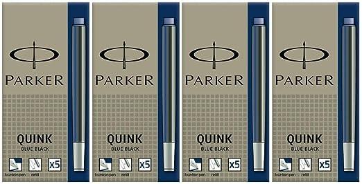 15 Parker Quink Tintenpatronen blau löschbar königsblau Füller Patronen Tinte