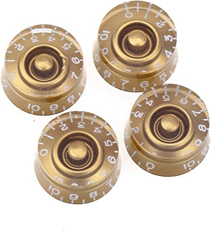 4pcs LEFT HANDED TOP HAT SPEED KNOBS//GOLD