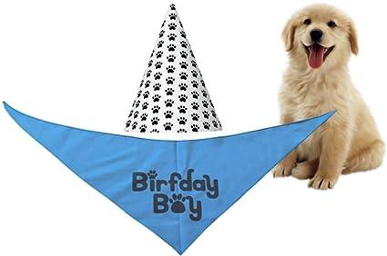 Dog Birthday Bandana Blue