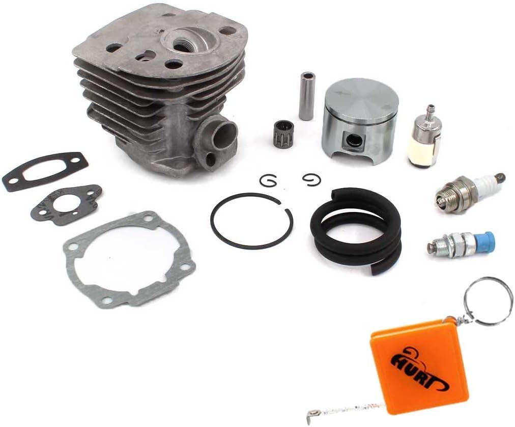 Jeu de pistons de cylindre pour Husqvarna 50,51,55 Rancher Nikasil Engine Jeu de pistons de cylindre de 46 mm avec joint