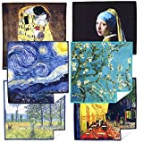 EXTRA LARGE [6 Pack] World Best Classic Art Collection - ULTRA PREMIUM QUALITY Clean & Clear Microfiber Cleaning Cloths (Best for Camera Lens, Glasses, Screens, and all Lens.)