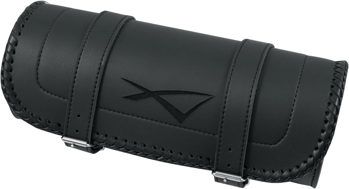 Sharplace Sacoche de Selle de Moto Cruiser Poche /à Outils avec Deux Sangles de Fixation Noir