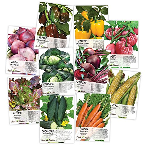 Heirloom Vegetable Seed Packet Collection