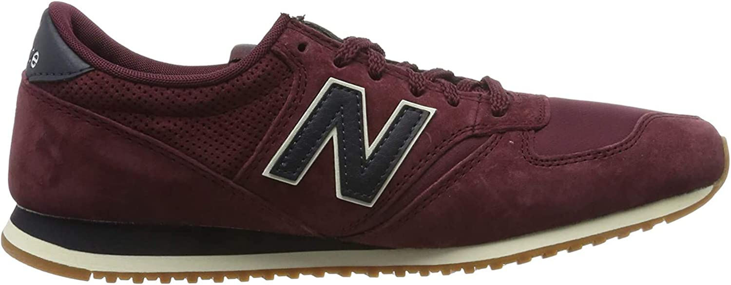 New Balance 420 Bordeaux Suede Trainers