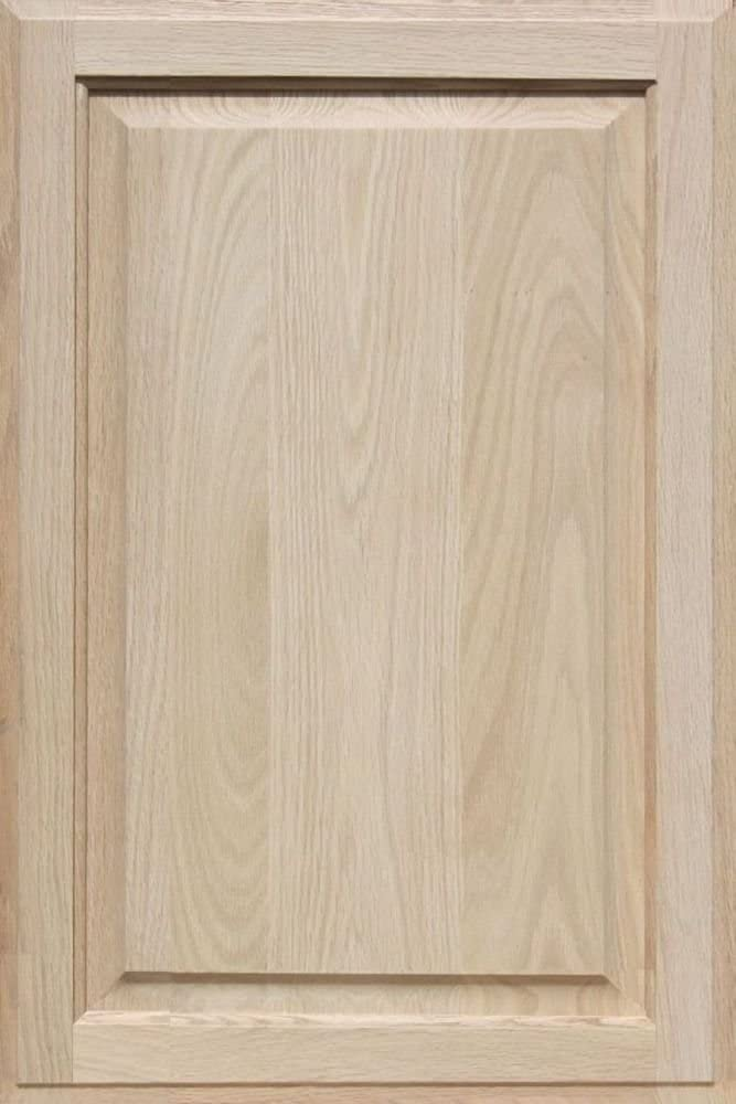 Square with Raised Panel by Kendor 27H x 18W Unfinished Oak Cabinet Door