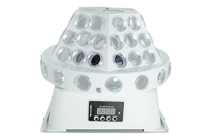 BES 19420 Proyector 8 LED RGBW, diseños Efectos Disco Giratorios ...