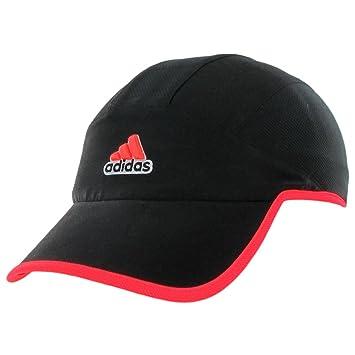 6ba57997578aa Amazon.com : adidas Men's Climacool Trainer Cap, Black/Solar Red ...