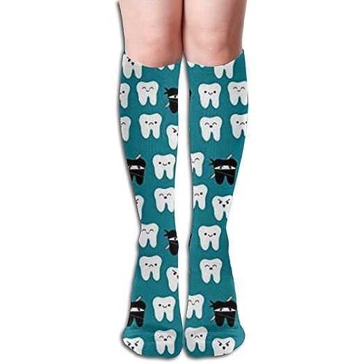 Amazon.com: ZOZGETU Long Socks Tooth Fabric Way of The Ninja ...
