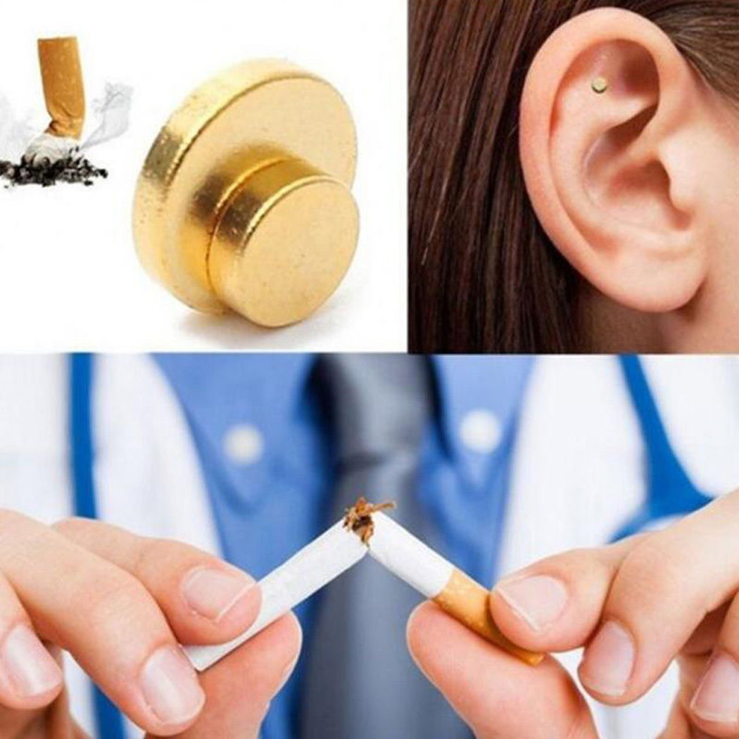 Quit Smoking Ear Magnet Cigarettes Magnetic Ear Acupressure Zero Stop Smoke by MYEDO (Image #3)