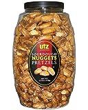 Utz Sourdough Nuggets Pretzels – 52 oz. Barrel – Bite-Size Pretzels with Classic Sourdough Flavor, Perfectly Salted with Zero Cholesterol per Serving