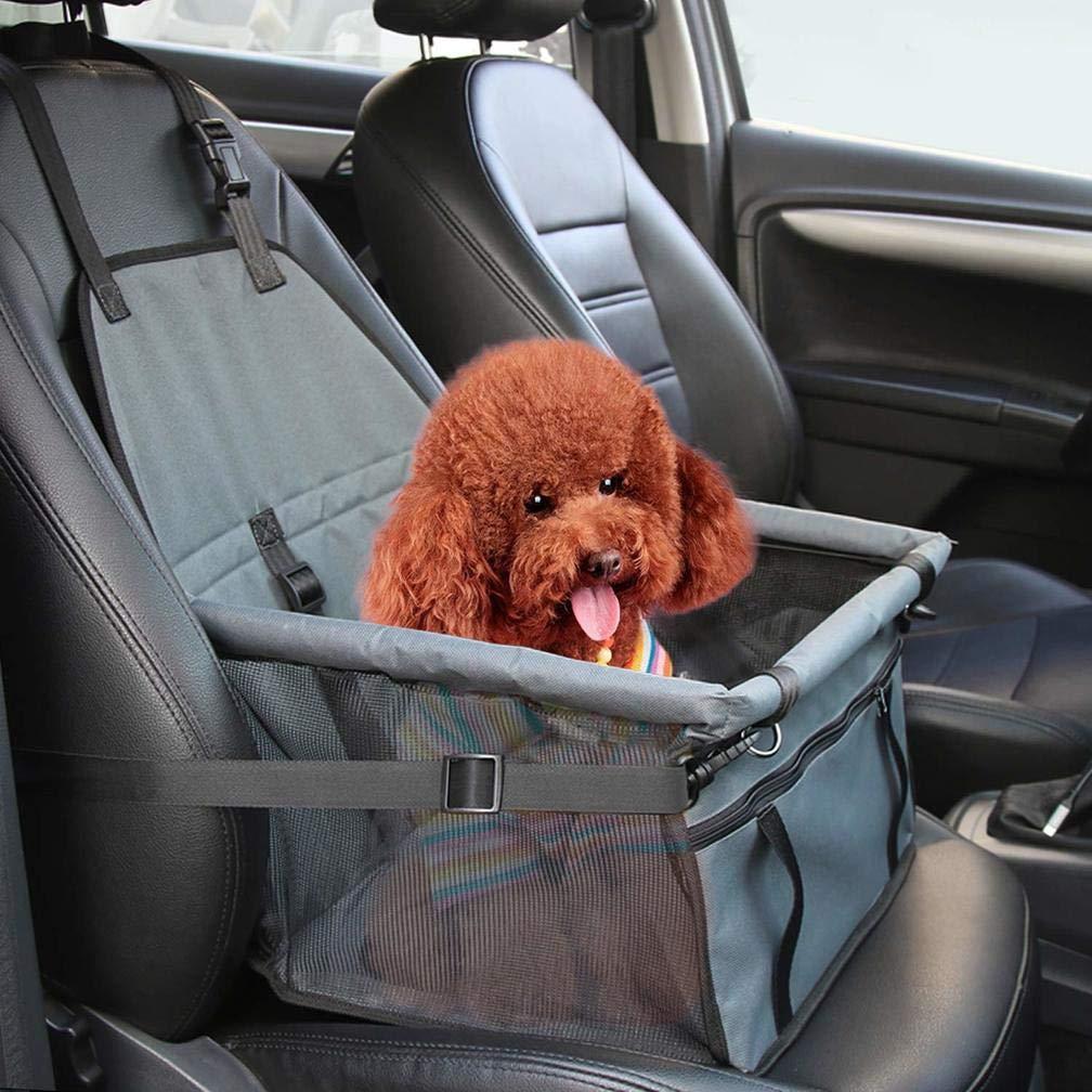 Jbsceen Hunde Autositz f/ür Kleine Mittlere Hunde Hund Autositzbezug Wasserdicht Hundesitz Auto f/ür die R/ückbank mit Sicherheitsg R/ückbank /& Vordersitz Hundesitz Blau