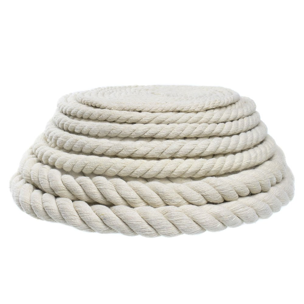 "Original Natural Cotton Rope – Choose from 3/4"", 11/16"", 5/8"", 1/2"", 3/8"", 5/16"", 7/32"", 3/16"" Sizes – Available in 10, 25, 50, 100 Foot Lengths"