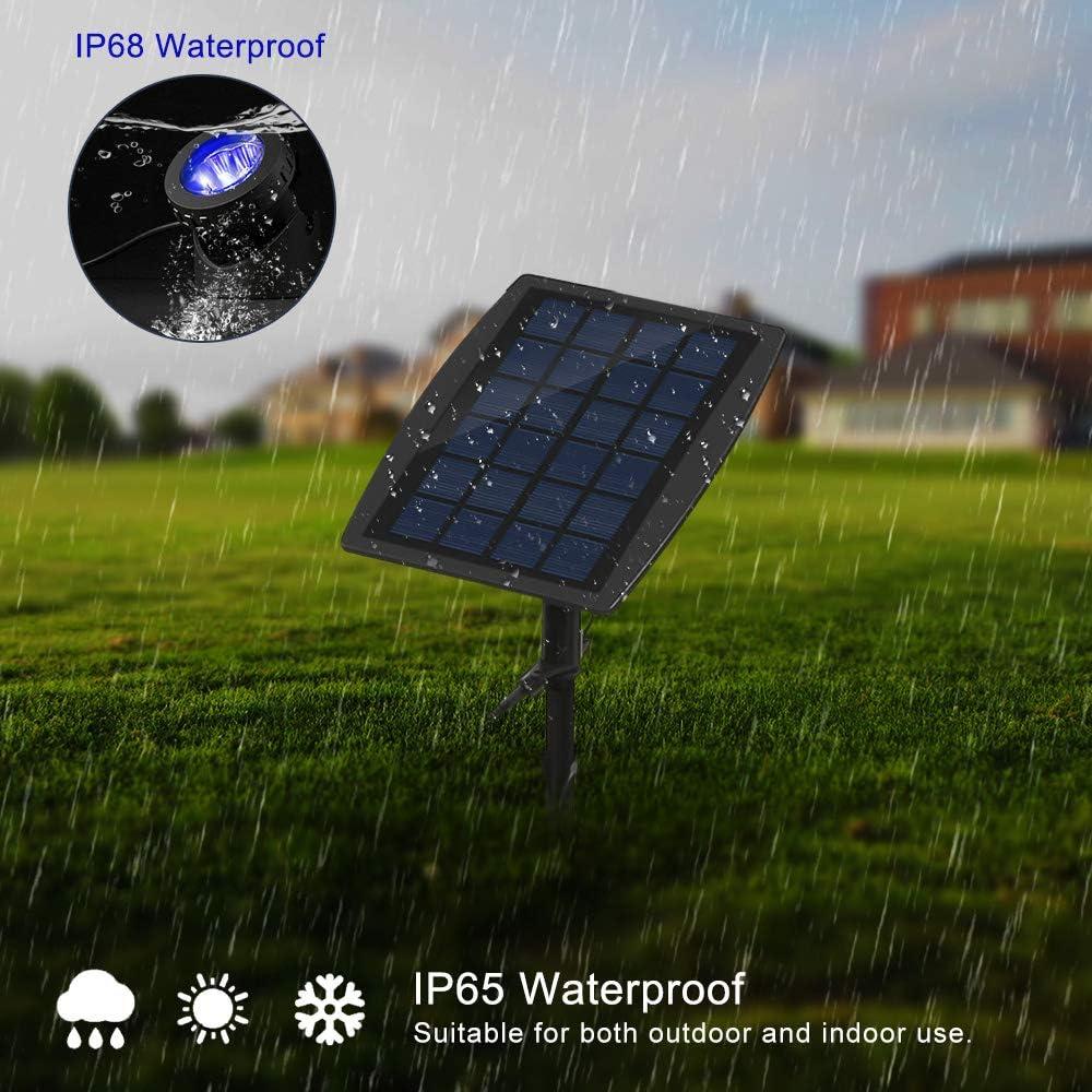 /étanche /à leau IP68 Deux Modes D/éclairage Sur//De Voiture Projecteurs Submersibles Dext/érieur ALLOMN Bassins Solaires avec Ventouses Projecteurs Immerg/és R/églables Blanc Froid, 2 lumi/ères