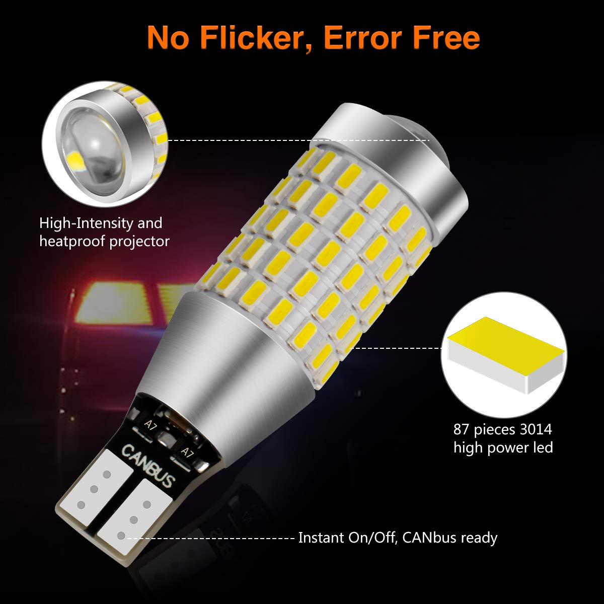 Pack of 2 6000K White 3157 3156 LED Backup Light Bulbs,AUTOBEAM 2000 Lumens 3057 4057 for Back Up Lights Reverse Lights 360 Degree