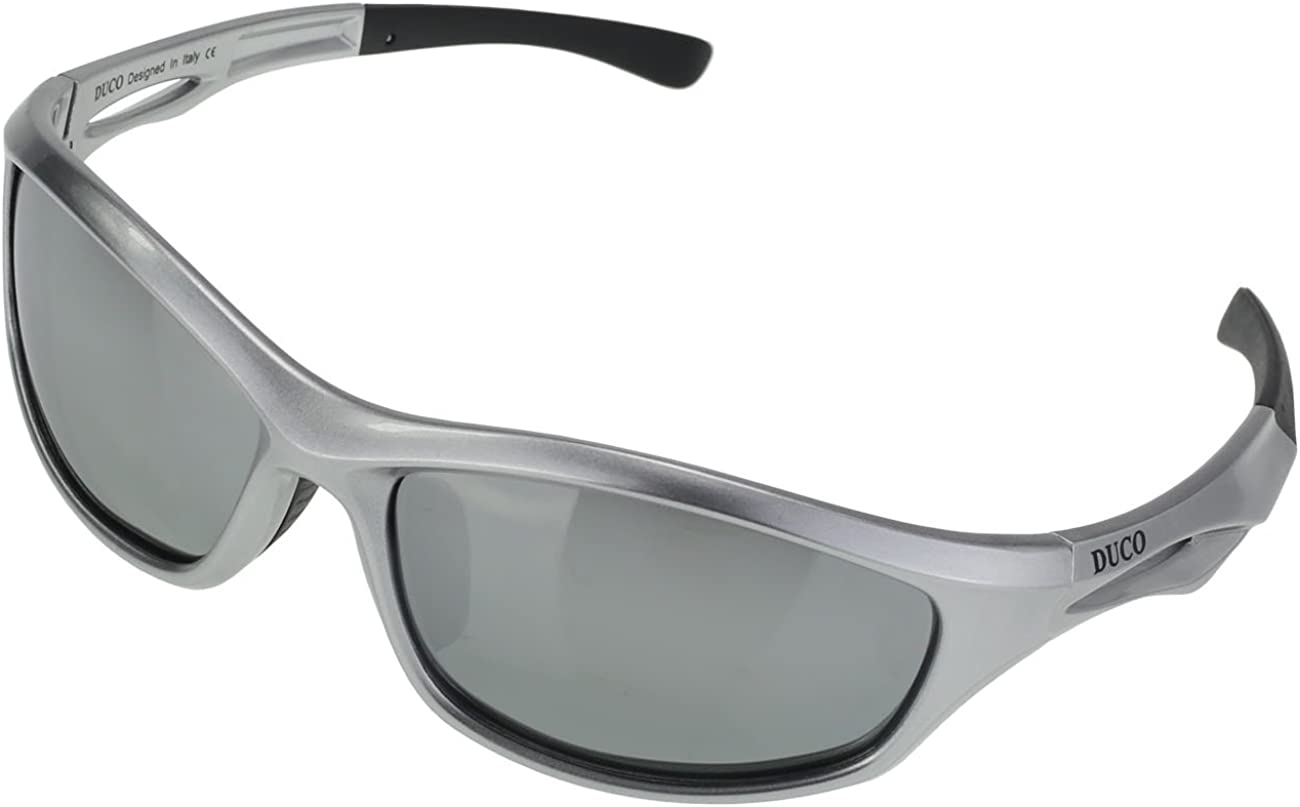 DUCO Polarized Sports Sunglasses for Running Cycling Fishing Golf TR90 Unbreakable Frame 6199