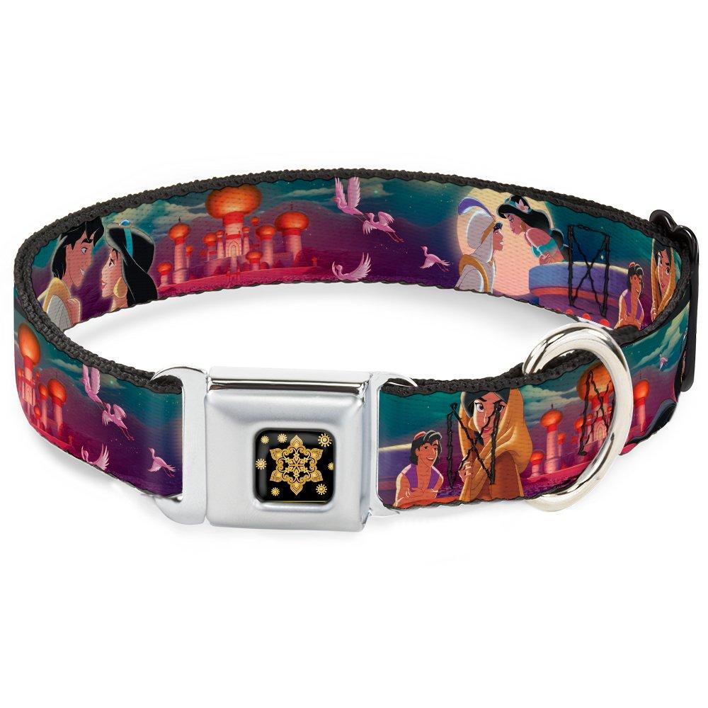 Aladdin & Jasmine Scenes Castle Birds 1\ Aladdin & Jasmine Scenes Castle Birds 1\ Buckle-Down Flaming Dog Collar Bone
