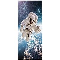 Deursticker Behangpapier 3D 90 * 200cm Astronaut
