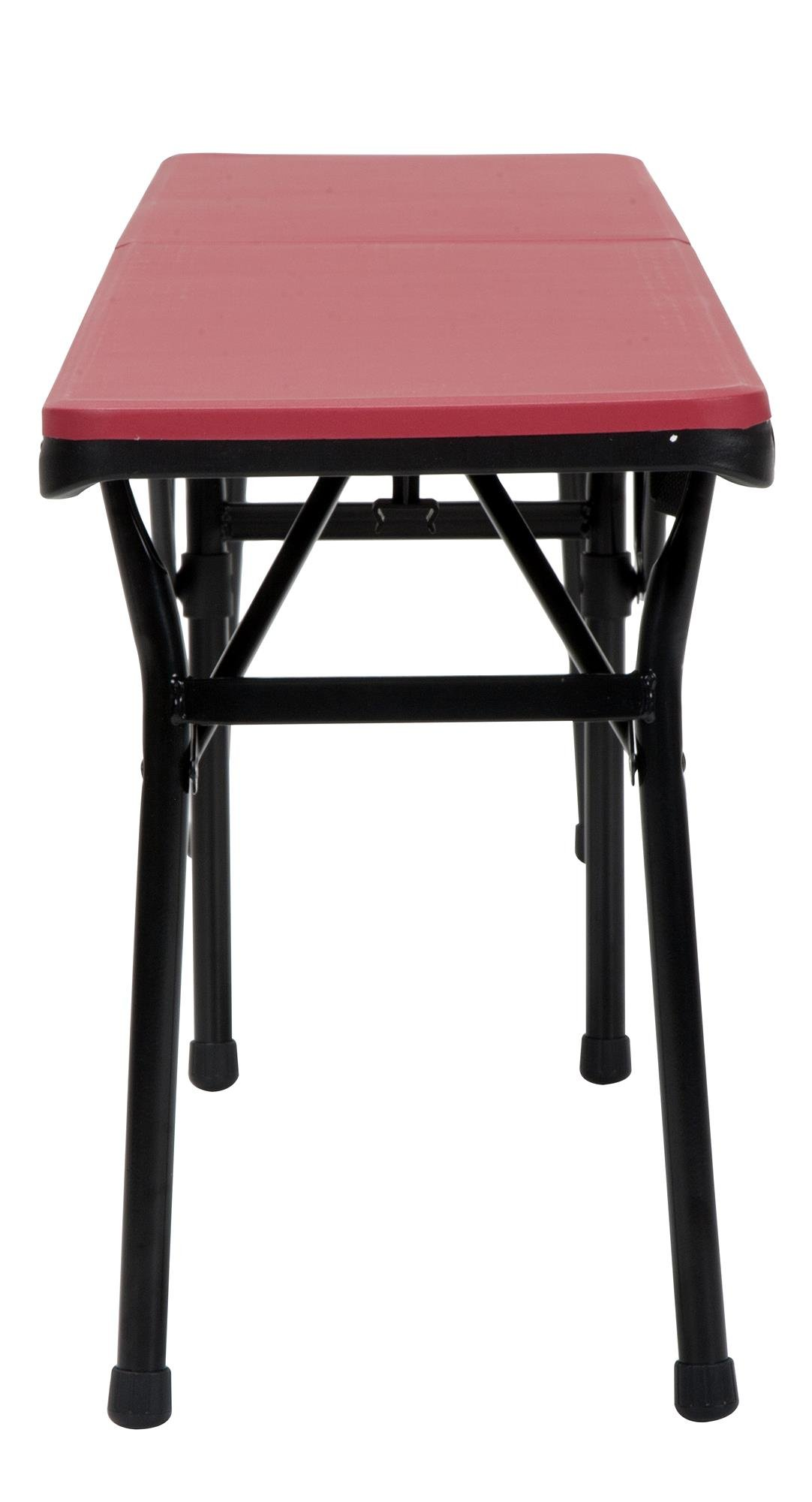COSCO 6 ft. Indoor Outdoor Center Fold Tailgate Bench with Carrying Handle, Red Bench Top, Black Frame, 2-pack by Cosco Outdoor Living (Image #10)