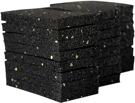 Lot de 25 patins de terrasse en granul/és de caoutchouc 20 mm 90 x 90 mm