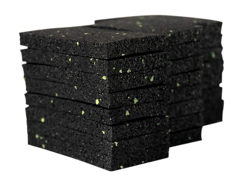 Terrassenpads Terrassenbau Gummigranulat 100 St/ück 10 mm 90 x 90 mm Terrassenpad