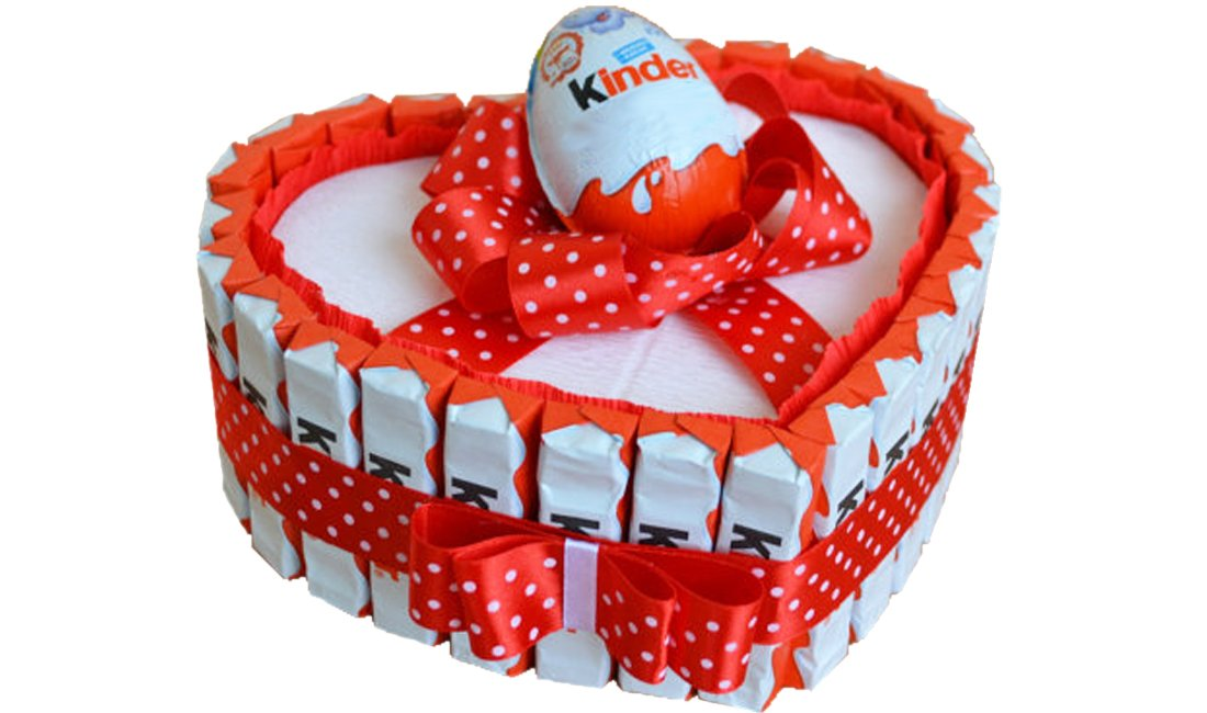 IRPot - Torta barrette Kinder a cuore - kit fai da te