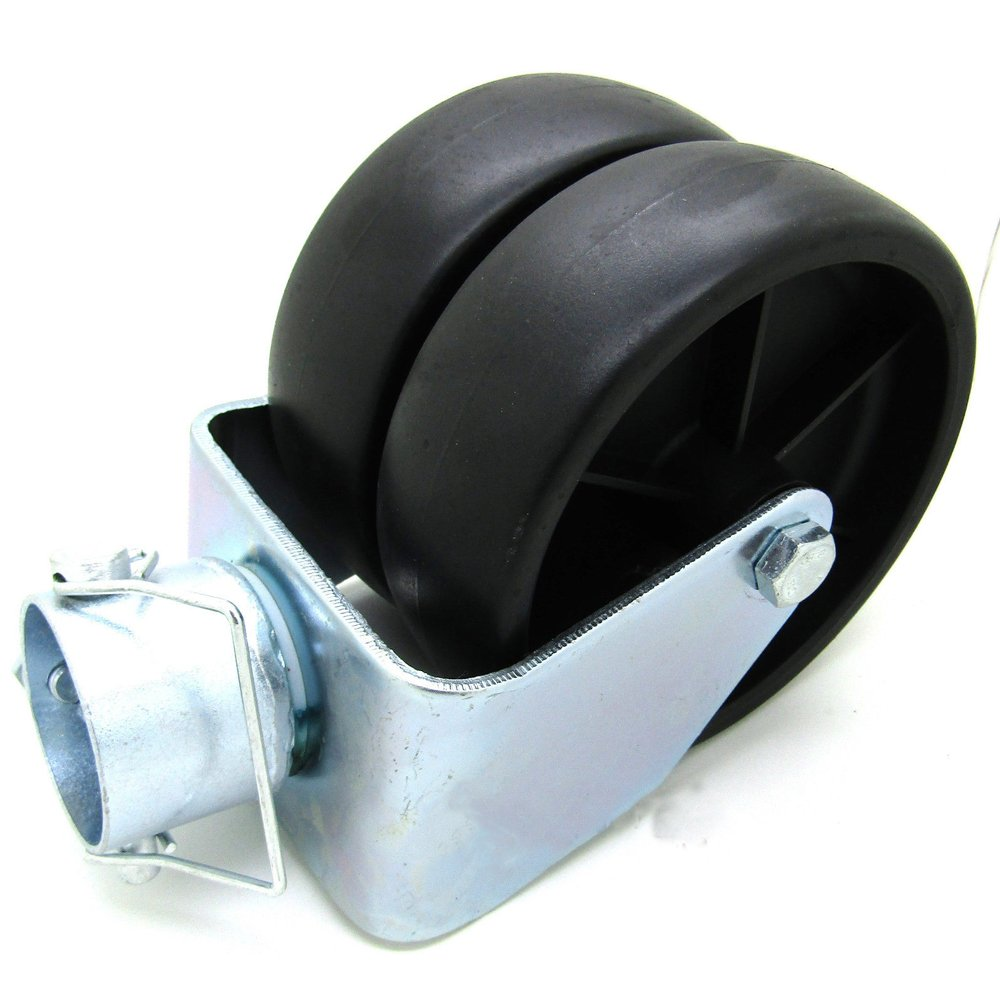 Simply Silver - Trailer Jack Wheel - New 6'' Dual Trailer Jack Wheel Caster fits Any Jack Better Soft Ground Roll