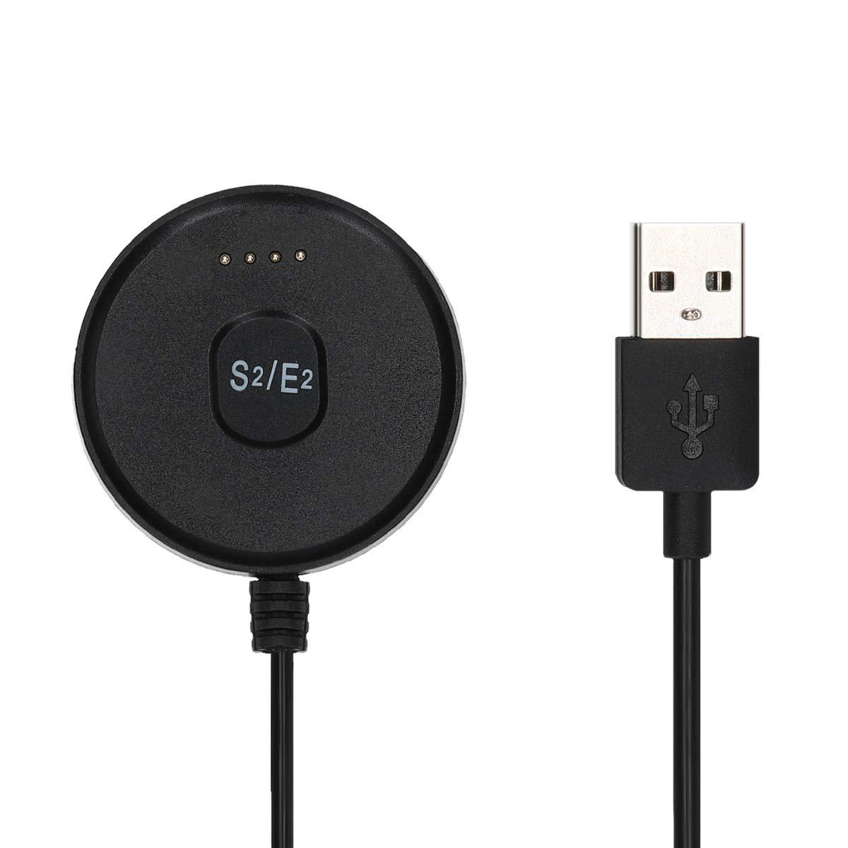 kwmobile Cable de Carga para Ticwatch S2 / E2 - Conector USB Negro ...