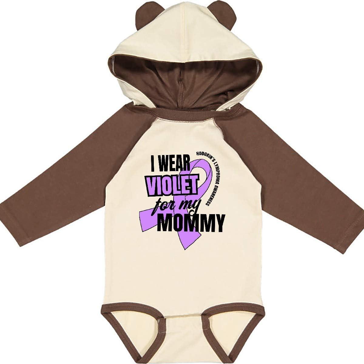 inktastic I Wear Violet for My Mommy Hodgkins Lymphoma Long Sleeve Creeper