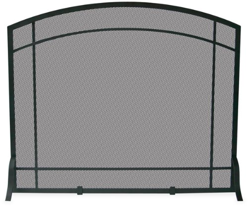 Wrought Iron Fireplace Decor (Uniflame, S-1029, Single Panel Black Wrought Iron Mission)