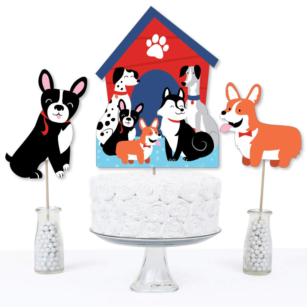 Pawty Like a Puppy Table Toppers Set of 15 Dog Baby Shower or Birthday Party Centerpiece Sticks