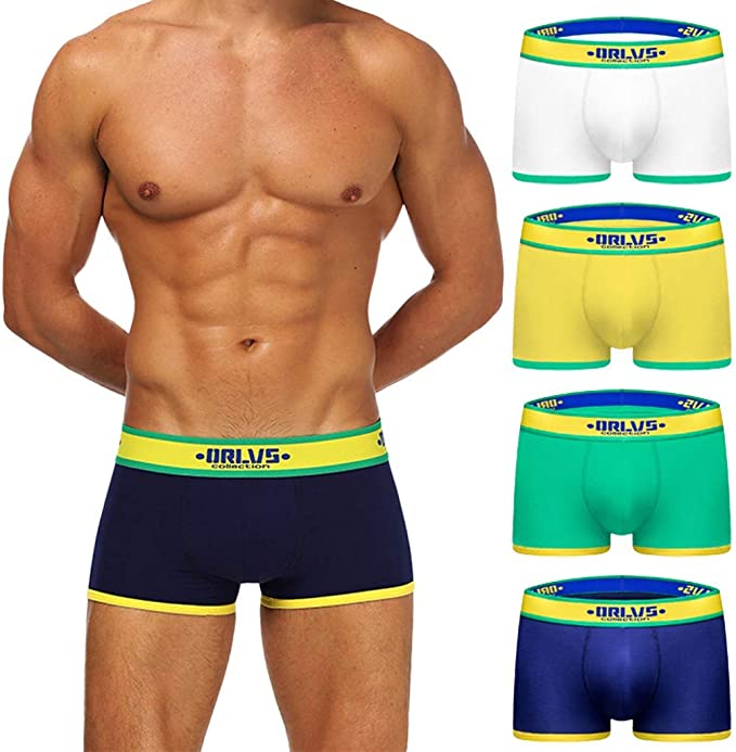 JFAN Bóxer Hombre Pack of 4 Ropa Interior Hombre Underwear 4 Pack ...