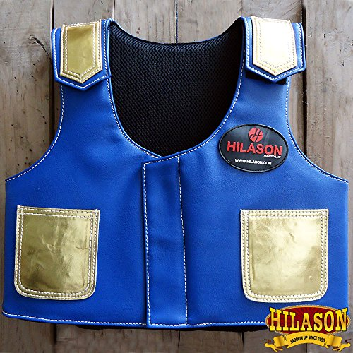 (HILASON Kids Junior Youth Bull Riding Pro Rodeo Leather Protective Vest)