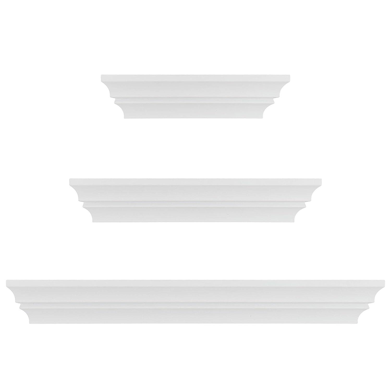 kieragrace Traditional floating-shelves, Set of 3, White