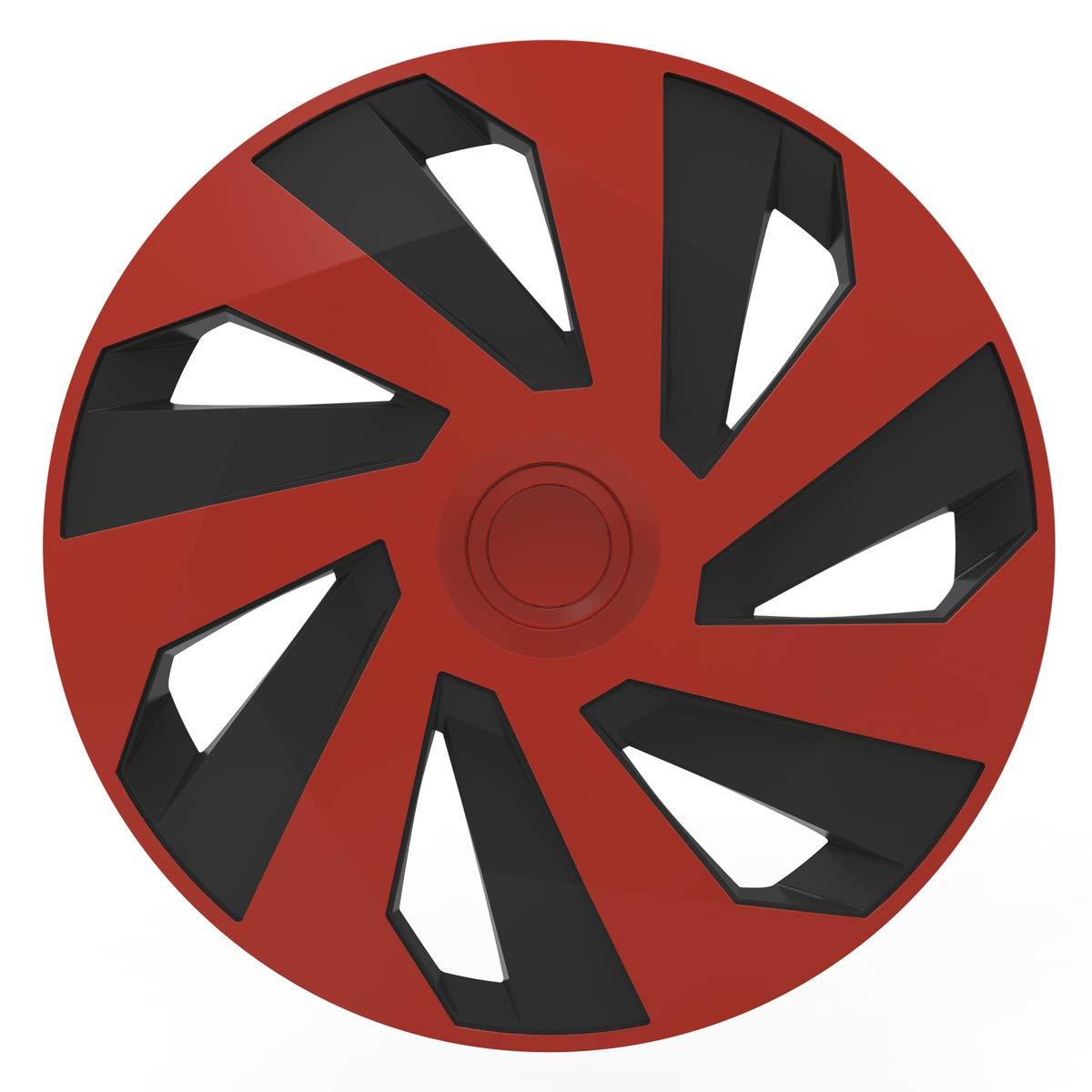 Schwarz 4 St/ück 15 Zoll VERSACO VECTORRB15 Vector Radzierblende Rot Universalgr/ö/ße