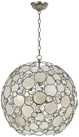 crystorama 529sa palla chandelier 21w in - Crystorama