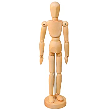 Amazon Com Yazycraft Wooden Manikin Male 12