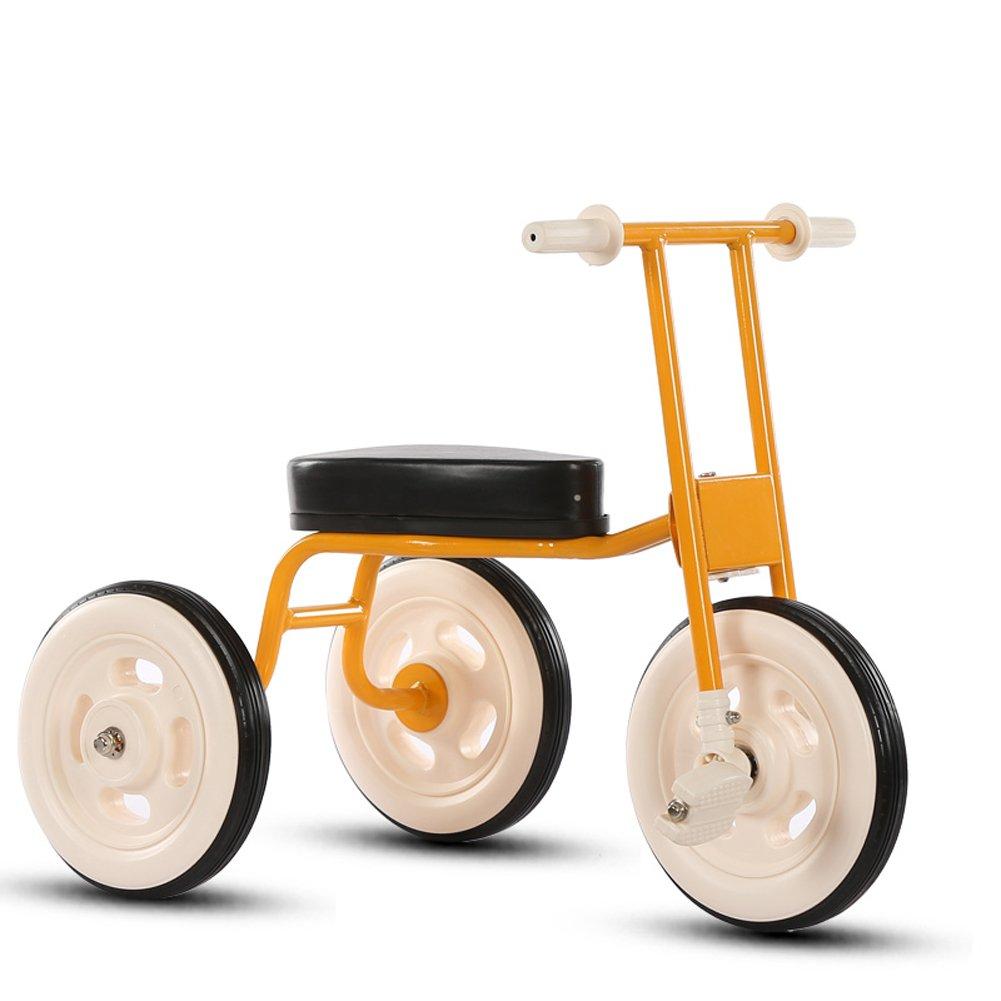 【超目玉枠】 CHS@ B07PW3RCGT シンプルな子供の三輪車ヴィンテージ自転車ベビーバイク1-3-4歳赤ちゃんの車屋内の子供のキャリッジ 子ども用自転車 (色 イエロー : イエロー 子ども用自転車 いえろ゜) イエロー いえろ゜ B07PW3RCGT, 愛情宣言:3af3280e --- senas.4x4.lt