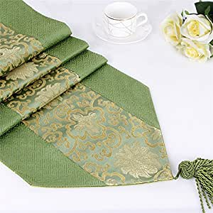 """AccMart Luxury Damask Table Runner 78.7"""" by 12.5"""""""