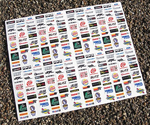 SLOTCAR SCALEXTRIC 1/32nd 'DRIFT' Japan sponsorenlogo sticker aufkleber