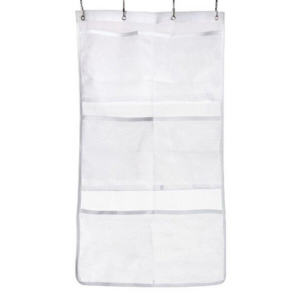 wotu Hanging Mesh Bath Shower Organizer, Bathroom Shower Caddy Organizer with 6 Storage Pockets for Bathroom Accessories Organization Space Saving
