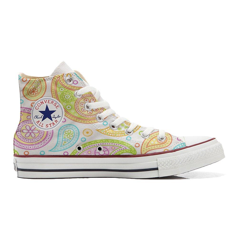 Converse Personalizzate all Star (Scarpe Personalizzate Artigianali) scarpe da ginnastica, Unisex-Adulto Coloreful Paisley