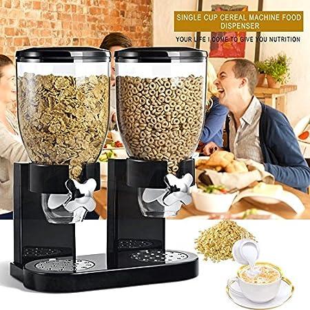 Ballylelly multifuncional cereal de pasta comida seca dispensador de almacenamiento dispensador dispensar la máquina de la cocina del hogar para el regalo: ...