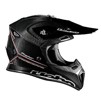 HEBO Enduro-MX Raptor Carbon Casco, Negro, Talla XS