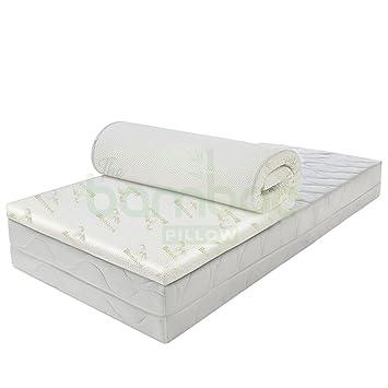 Colchoncillo viscoelástico ultrasuave de bambú, hipoalergénico, resistente a cambios de temperatura, apoyo ortopédico perfecto para dormir cómodamente, ...