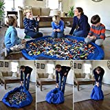 Xcellent Global Kids Toy Storage Bag Fast Collection Toys Bag Portable Play floor Mat Waterproof Picnic Blanket Rug (Blue), HG189