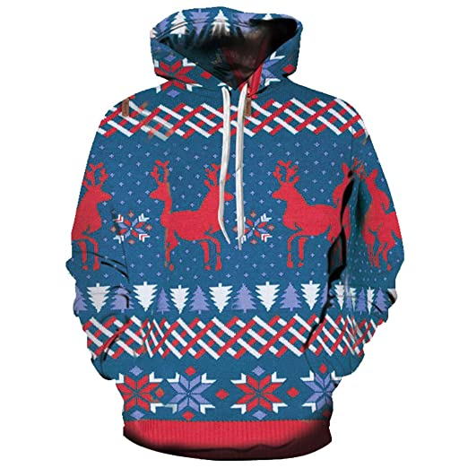 Hoodie Men Sweatshirt Boys Christmas Hoodies Pullover Male Hooded Jacket Dinosaur Print Men Clothing Red Xxl Xxxl Men's Clothing