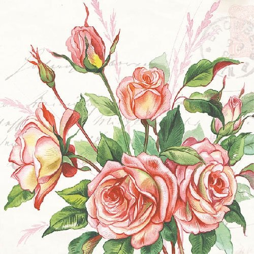 4 Paper Napkins for Decoupage - 3-ply, 33 x 33cm - Margareth Tigers on the Loose