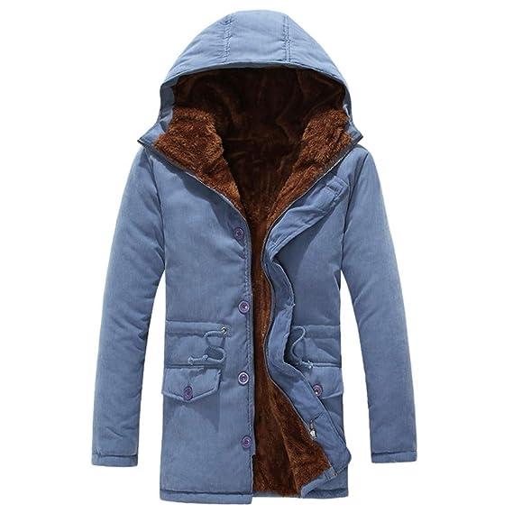Cebbay Abrigo Largo de los Hombres Chaqueta de Algodon Chándales Trajes para la Nieve Espesar Terciopelo para Mantener el Calor.Ropa Hombre Invierno 2018: ...